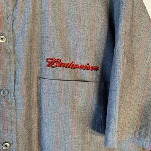Other - Budweiser work shirt embroidered front Sz XXL S/S